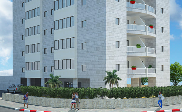 הדמיית בניין מגורים