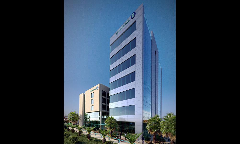 הדמיית תוספת בניה עתידית בסניף ביטוח לאומי בחדרה